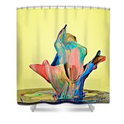 Paint Art Shower Curtain by Susan Candelario