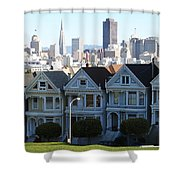 Painted Ladies Shower Curtain by Linda Woods
