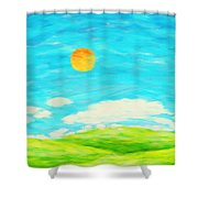 Painting Of Nature In Spring And Summer Shower Curtain by Setsiri Silapasuwanchai