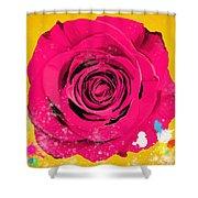 Painting Of Single Rose Shower Curtain by Setsiri Silapasuwanchai
