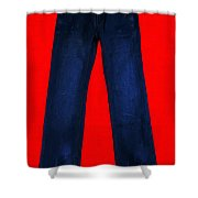 Pair of Jeans 2 - Painterly Shower Curtain by Wingsdomain Art and Photography