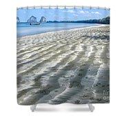 Pak Meng Beach Shower Curtain by Adrian Evans