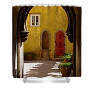 Palace Arch Shower Curtain by Carlos Caetano