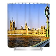 Palace of Westminster from bridge Shower Curtain by Elena Elisseeva