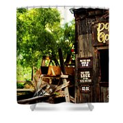 Pan For Gold In Old Tuscon Arizona Shower Curtain by Susanne Van Hulst