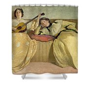 Panel For Music Room Shower Curtain by John White Alexander