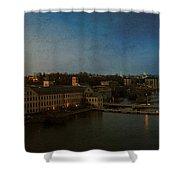 Panoramic Appleton Skyline Shower Curtain by Joel Witmeyer