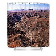 Panormaic View of Canyonland Shower Curtain by Robert Bales