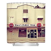 Papa's Poboy's Shower Curtain by Scott Pellegrin