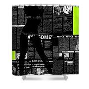 Paper Dance 2 Shower Curtain by Naxart Studio