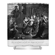 Parable Of Virgins Shower Curtain by Granger