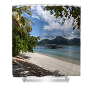 Paradise Island Shower Curtain by Adrian Evans