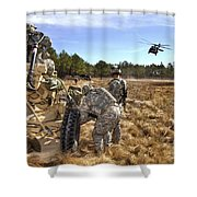 Paratroopers Prepare To Hook Up An Shower Curtain by Stocktrek Images