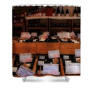 Paris Wine Shop Shower Curtain by Andrew Fare