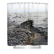 Part Of An Oil Slick In The Gulf Shower Curtain by Stocktrek Images