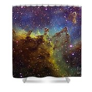 Part Of The Ic1805 Heart Nebula Shower Curtain by Filipe Alves
