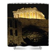 Parthenon Athens Shower Curtain by Bob Christopher