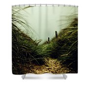 Path Through The Dunes Shower Curtain by Hannes Cmarits
