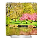Peaceful Spring II Shower Curtain by Darren Fisher