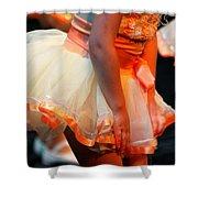 Peach Tutu Shower Curtain by Lauri Novak