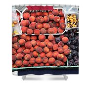 Peaches And Plums - 5d17913 Shower Curtain by Wingsdomain Art and Photography