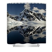 Peaks Along  Neumayer Channel Shower Curtain by Colin Monteath