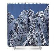 Peaks Of Takhinsha Mountains Shower Curtain by Matthias Breiter