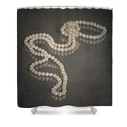 Pearl Necklace Shower Curtain by Joana Kruse
