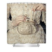 Pearls Shower Curtain by Joana Kruse