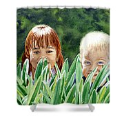 Peekaboo Shower Curtain by Irina Sztukowski