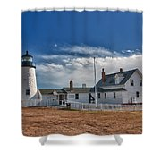 Pemaquid Point Lighthouse 4800 Shower Curtain by Guy Whiteley
