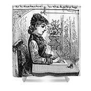 Penmanship Manual, C1880 Shower Curtain by Granger