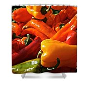 Pepper Palooza Shower Curtain by Susan Herber