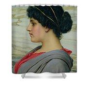 Perilla Shower Curtain by John William Godward