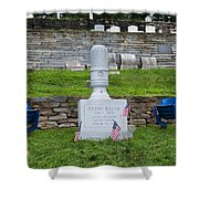 Phillies Harry Kalas' Grave Shower Curtain by Bill Cannon