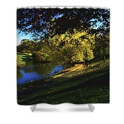 Phoenix Park, Dublin, Co Dublin, Ireland Shower Curtain by The Irish Image Collection