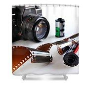 Photography Gear Shower Curtain by Carlos Caetano