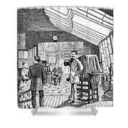 Photography Studio, 1876 Shower Curtain by Granger