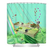 Photosynthesis Shower Curtain by Russell Kightley
