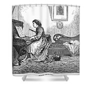 Pianist, 1876 Shower Curtain by Granger