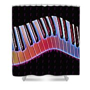 Piano Roll Shower Curtain by Bill Cannon
