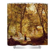 Picnic Shower Curtain by Charles James Lewis
