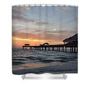 Pier 60 Clearwater Beach Florida Shower Curtain by Bill Cannon
