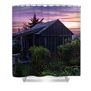 Pink Dawn Shower Curtain by Debra and Dave Vanderlaan