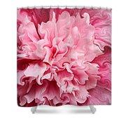 Pink Shower Curtain by Kristin Elmquist