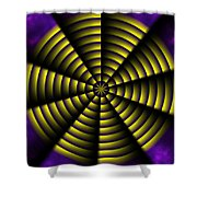 Pinwheel Shower Curtain by Christopher Gaston