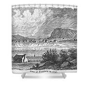 Pittsburgh, 1790 Shower Curtain by Granger