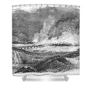 Pittsburgh: Fire, 1845 Shower Curtain by Granger