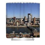 Pittsburgh Panoramic Shower Curtain by Teresa Mucha