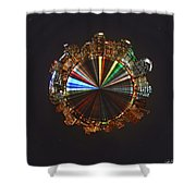 Planet Wee San Diego California By Night Shower Curtain by Nikki Marie Smith